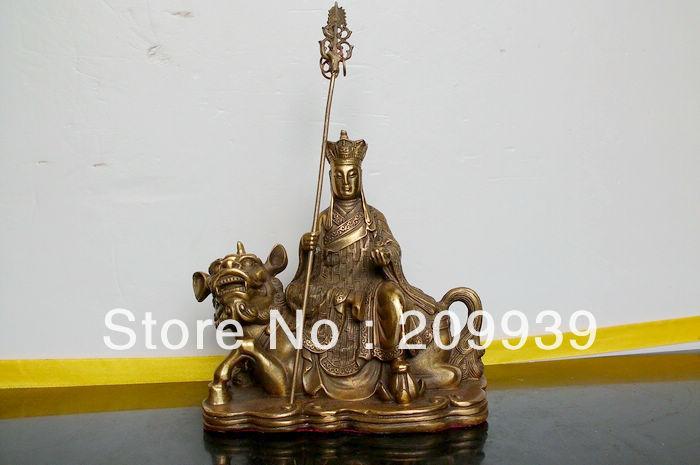 bir 00510 Tibet Buddhism Ksitigarbha Bronze buddha Statue(China (Mainland))