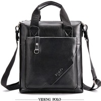 New Fashion POLO Genuine Leather Bags For Men Brand Designer Mens Shoulder Bag polo Messenger Bags For Male Black Brown
