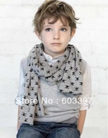 2013 new freeshipping SKULL children scarf fashion style girl&boy scarves baby clothing kids neckerchief 5pcs/lot