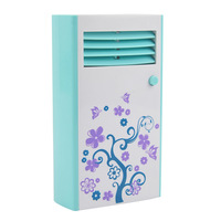 Free shipping  Mini handheld air conditioning fan/cooling fan - 83003 (Blue) 72pieces per carton