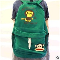 Free shipping canvas backpack school bag Kawaii backpack  backpack for shcool 3 color student backpack