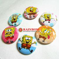 Free Shipping!Wholesale !New Arrival! 25mm 540 PCS/lot Sponge Bob Square Pants tin badge ,fashion pin badge.badge button gift