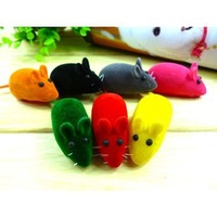 Nice Brand New Hot Bright Coloured Little Beautiful Funny Mouse Toys For Pets,dog pets,10 pcs/lot