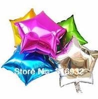 M3 Free Shipping 20Pcs/Lot 18'' Star Shape Aluminum Foil Metallic Balloon For Party Decorations