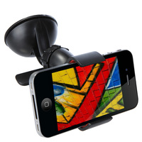 Universal Windshield 360 Degree Rotating Car Mount Bracket Holder Stand for iPhone Cellphone GPS MP4 PDA tablet Accessories