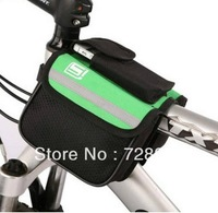 New Cycling Bike 600D Bicycle Frame Pannier Double-Saddle Front Tube Bag