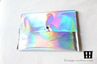PU Hologram Laser Envelope Bag Handbag Multicolor  29*20cm Handbag Messenger Bag Free shipping