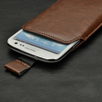 Leather Pouch Case for Thl W1+ V12+ V12 W3+ W3 W100 Zopo ZP300+ Feiteng I9300 A7100N7100S9 M2 UMI X1 Free Shipping Wholesales4.3