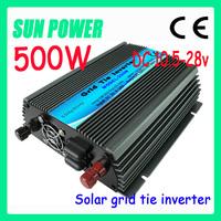 Free Shipping SY-GTI Pure sine wave micro solar grid tie inverter 500W ,AC190-260V DC10.5-28V auto control solar power inverter