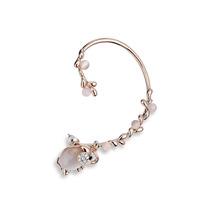 Versatile Elephant Stud Ear Cuff Earrings Statement Fashion Jewelry Gift For Women