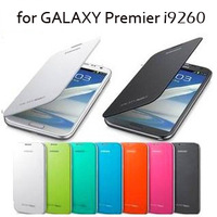Cell phone case For Samsung Galaxy Premier i9260 flip leather cover battery housing back case,with original retail package