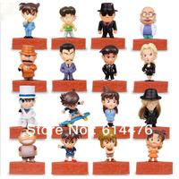 Free shipping 50sets/lot Detective Conan figures 16pcs/set Japan Anime Toys