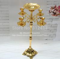 Top selling 63cm 5 arms candelabras with flowers bowl , flower candelabra, flower holder