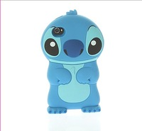 Super Cute 3D Stitch Movable Ear Flip Hard Back Case Cover Skin for iphone 5 Free Shipping