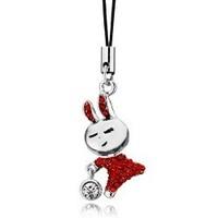 2013 accessories popular hot-selling accessories rabbit mobile phone pendant