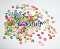 200pcs/bag x 4*4mm Mixed Colors Round Resin Glitter Gem Rhinestones for Nail Art Decoration-Free Shipping