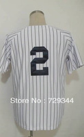 Wholesale Cheap Baseball Jerseys-2 Derek Jeter Men's Authentic Home White Cool Base Baseball Jersey Size:48-56,Free Shipping