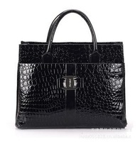 2013 Fashion Women Crocodile Pattern Commuter Handbag High Quality Designer PU Leather Tote Bags 3 Colors