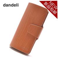 Male wallet cowhide long wallet design men's wallet coffee