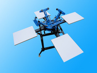 4 color 4 station rotary screen printing machine for t shirts good quality free shipping (many areas)with fast delivery