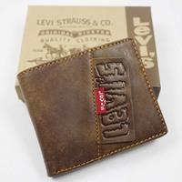 Male short design wallet coffee Men wallet genuine leather wallet casual