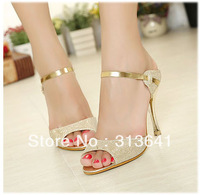 New arrival lady sexy high heels sandals wedding shoes open toe slippers ladies shoes casual shoes leisure shoes
