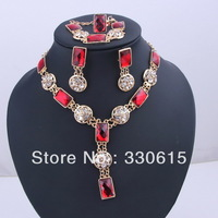 Free Shipping Zircon Auden Rhinestone Jewelry Sets For Women Designer  green Wholesale New Arrival Brand Sale