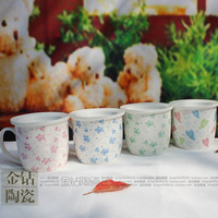 Fresh small anthocaulus rustic jingdezhen ceramic cartoon cup