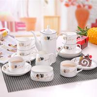 Ceramic coffee cup set coffee isonuclear allocytoplasmic fashion bone china cup