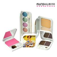 Vintage series make-up series eye shadow blush loose powder five pieces set