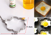 Thick stainless steel omelette omelette mold egg ring device Flowers kitchenware wholesale free shipping