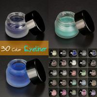 5pcs/lot Quaility 30 Rich in Color Makeup Eyeliner Gel Brand Waterproof Liquid Eye Liners 3g
