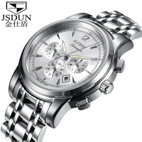 Pure stainless steel mechanical watch fully-automatic dot matrix multifunctional male watch men's inveted