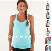 Free Shipping Hot Selling Lululemon Fashion Racerback Yoga Tank for Women Lululemon Vest Women Sportwear Tank Size 2,4,6,8,10,12