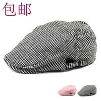 mix order retail free shipping - Elegant fashion small plaid cap beret the trend sunbonnet male female hat
