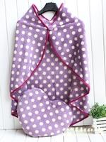 Free Shipping High quality love polka dot pillow cushion air conditioning blanket mantissas cape