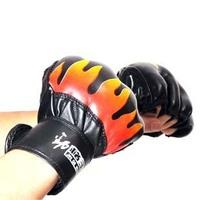 Flame fighting gloves semi-finger male fitness boxing gloves