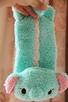 Free Shipping Lace plush cartoon rabbit powder pencil case stationery bags sundries bag storage bags