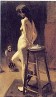 Original High-quality Portrait Oil Painting:Sexy back of nude woman (24x36inch)