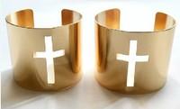 HJ-003 alloy bracelet rose gold buckle bracelet Ms. Cross cutting