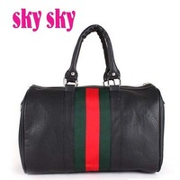 2012 hot selling simple ladies handbag pu leather popular women shoulder messenger bag free shipping factory sale SK112