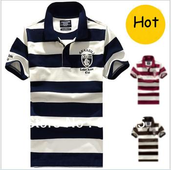 hot selling men's tee golf shirt  100% cotton PIQUE  tennis shirt short sleeves striped  t-shirt& polo shirt M-XXXL casual shirt