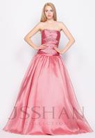 11G001 Strapless Beaded Organza Formal Princess Elegant Gorgeous Luxury Unique A-Line Long Quinceanera Dress