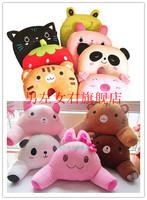 Free Shipping Cartoon animal multifunctional waist support pillow cushion pillow pillow decompression twinset