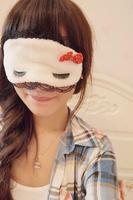 Free Shipping Black lace decoration sweet sleeping blindages dodechedron eyelashes fancy