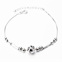 Free Shipping 1pc 925 Sterling Silver Bracelet Fashion Jewelry Lucky Bead Silver Bracelet GNS0118
