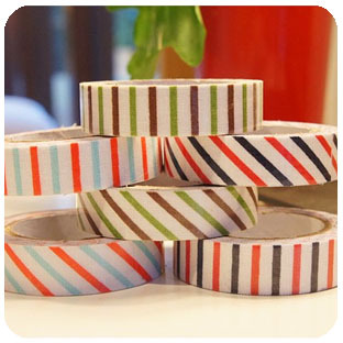 Fashion slanting stripe small fresh ocean wind 100% cotton fabric tape diy photo album stripe decoration tape corner posts