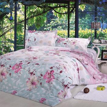 New arrival home textile bedding cotton stripe 100% slanting four piece set 100% cotton