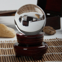 Natural white crystal ball decoration full magnetic field purification