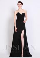 12P082 Unique V-Neck Strapless Split Trained Chiffon Elegant Gorgeous Luxury Unique Prom Evening Dress Fancy Dress Party